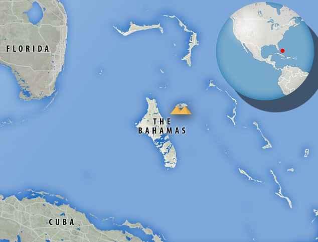 situación pirámides de las Bahamas