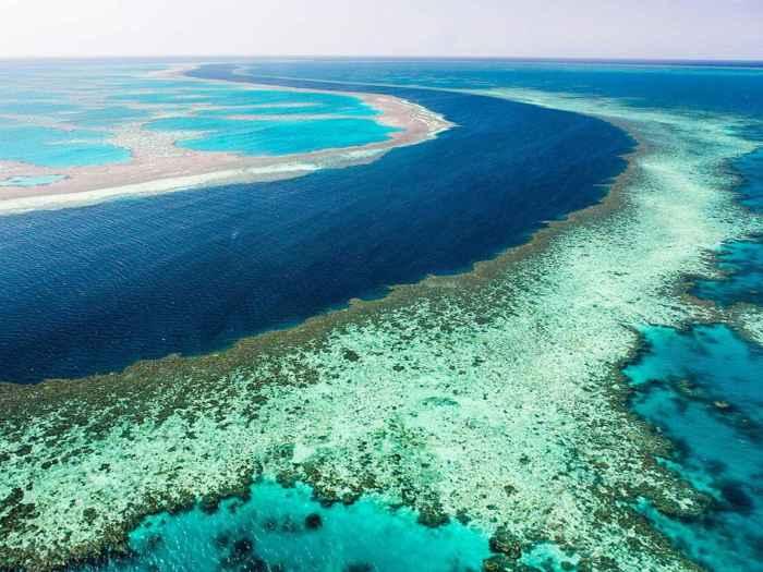 agujero azul en la Gran Barrera de Coral