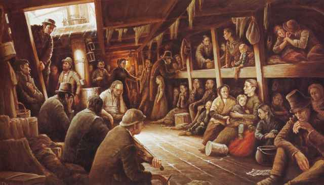 barco ataúd de emigrantes irlandeses