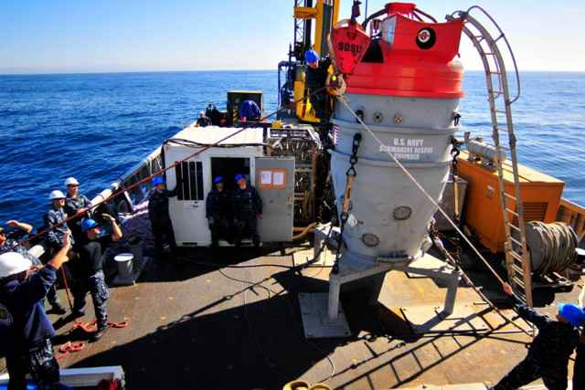 cámara de rescate submarino
