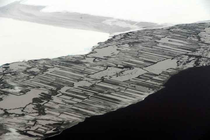 dedos de hielo en la Antártida