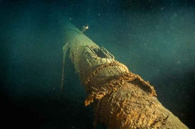 mástil delantero del Titanic