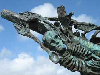 monumento a la hambruna irlandesa, detalle
