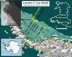 grieta en la plataforma de hielo Larsen C