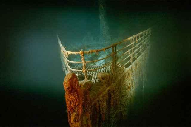 restos de la proa del Titanic