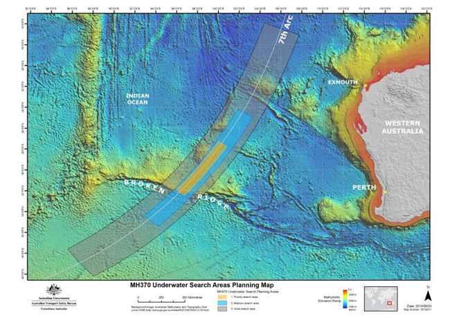7º arco de la búsqueda del MH370