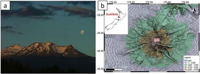 Volcán Ruapehu, mapa