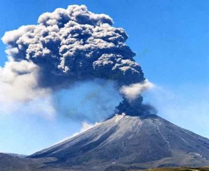 erupción del volcán Ruapehu