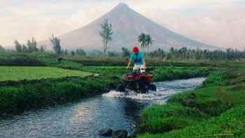 arroyo cerca del volcán Mayon