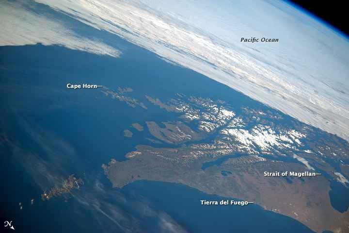 el Cabo de Hornos y la Tierra del Fuego