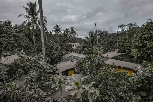 caída de ceniza del Volcán Mayon