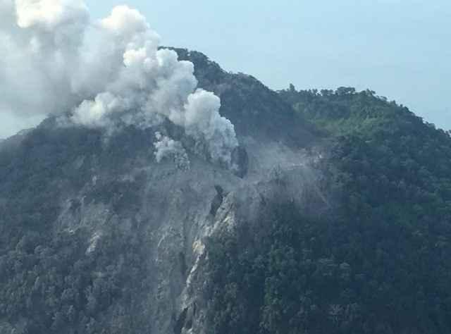 erupción del volcán Kadovar