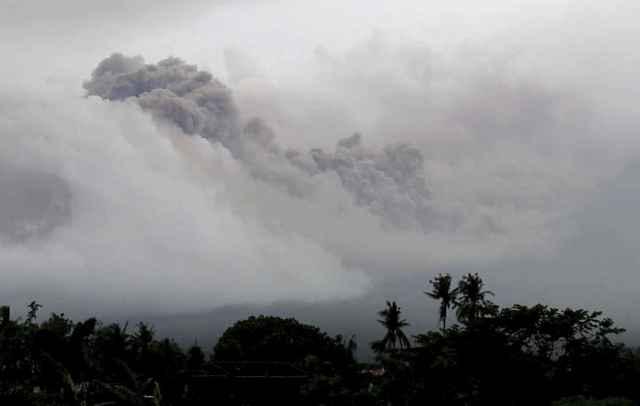flujo piroclástico volcán Mayon, Filipinas