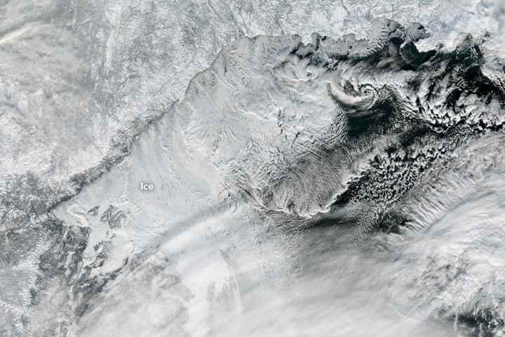 hielo marino en el Mar de Ojotsk