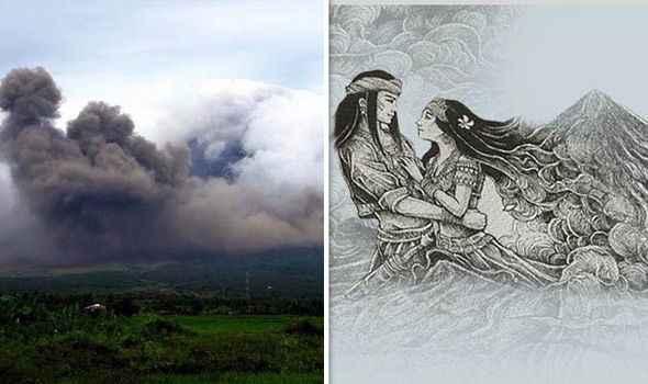 leyenda del volcán Mayon, Panganoron y Magayon
