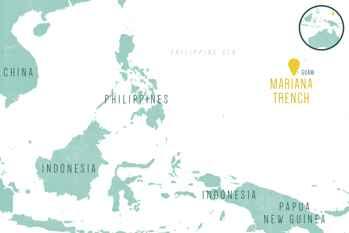 situación de la fosa de las Marianas