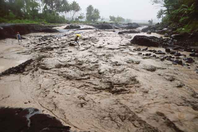 lahar en el Monte Mayon, Filipinas