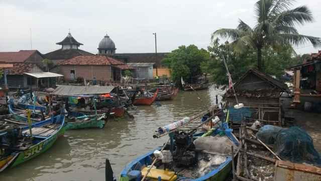 barcos de pesca en Java, Indonesia