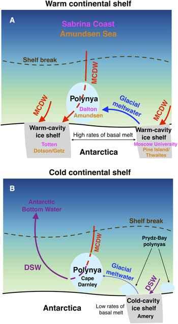 deshielo glaciar en la Antártida