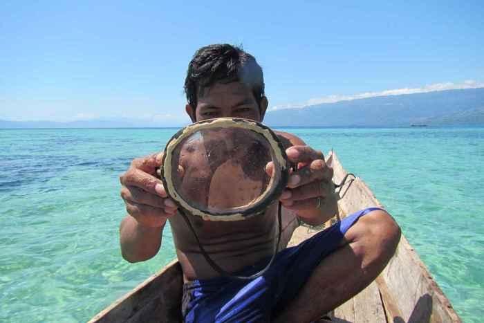 gafas para buceo de los Bajau