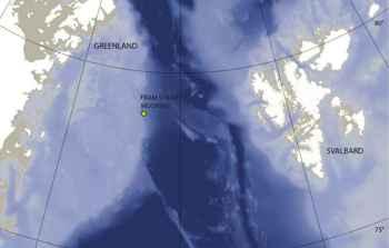 mapa del Fram Strait