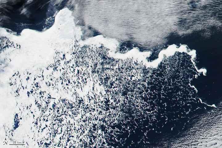zarcillo de hielo en la Antártida