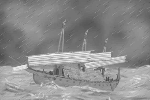barco de China del siglo XII