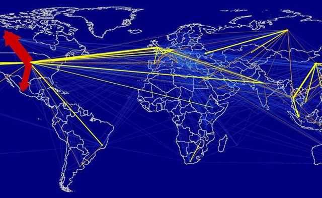 desplazamientos aéreos por turismo