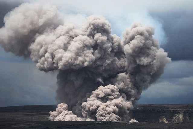 erupción del volcán Kilauea el 15 de mayo