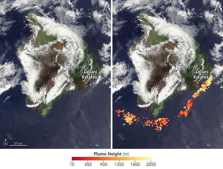nubes tóxicas del volcán Kilauea