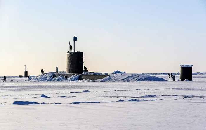 submarino HMS Trenchant en el Polo Norte