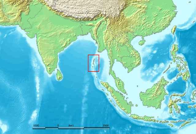 situación de las Islas Andaman