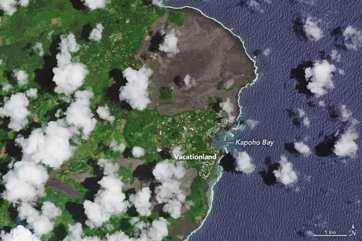 bahía de kapoho desde satélite el 14-05