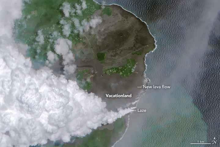 bahía de kapoho desde satélite el 7-06