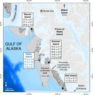 corredor libre de hielo en Alaska, detalle
