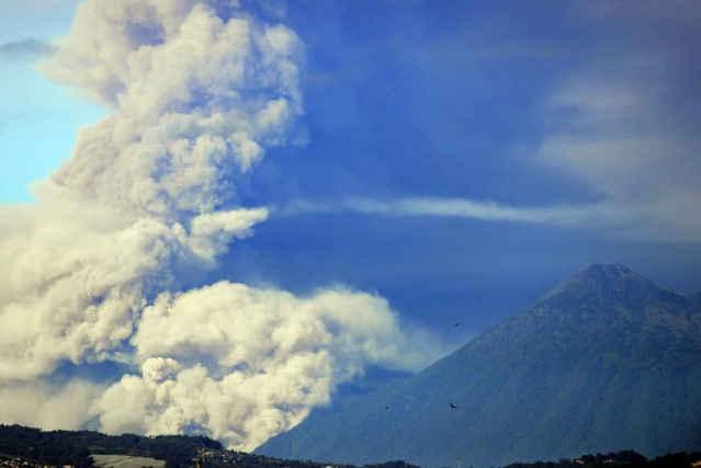 erupción del volcán de Fuego, Guatemala