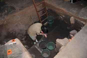 excavación en la isla Kamaka