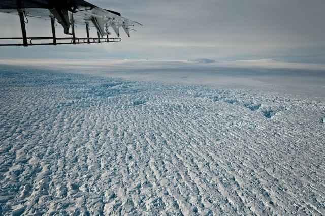 grietas en el Glaciar Pine Island