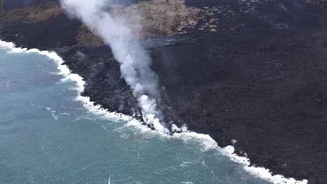 lava del Kilauea en el océano el 28-05-2018