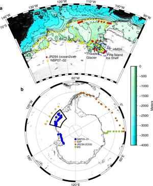 medida de gases en la Antártida