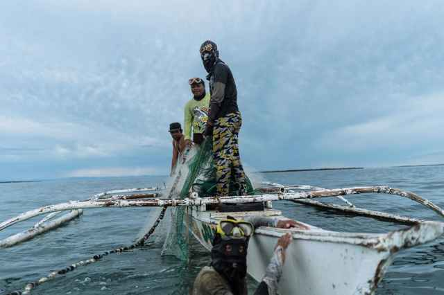 pescadores en Filipinas