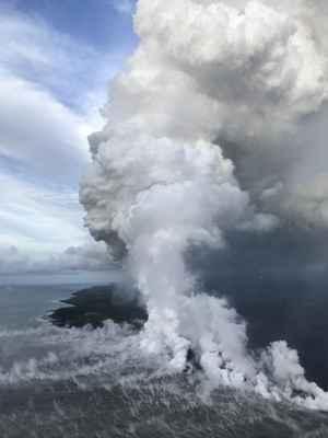 pluma laze del Kilauea