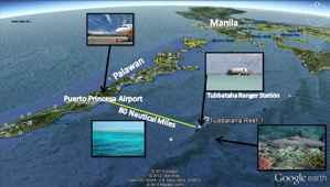 situación del Parque Natural de los Arrecifes de Tubbataha, Filipinas