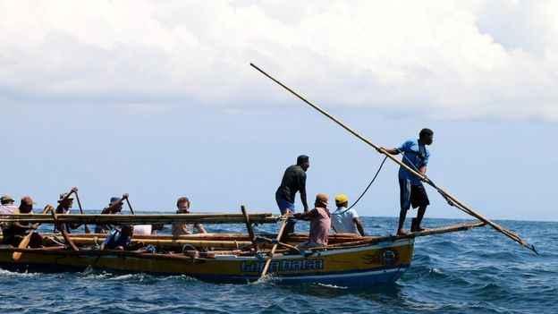 arponero de ballenas en Lamalera