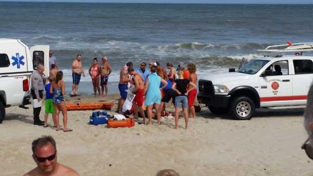 ataque de tiburón en Carolina del Norte