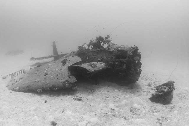 avión de la 2ª Guerra Mundial hundido en el Pacífico