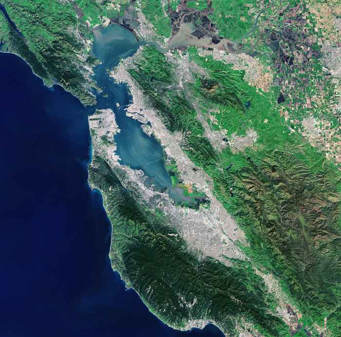 La Bahía de San Francisco desde satélite