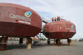 boyas sumergidas Ceto 5 de Carnegie Wave Energy