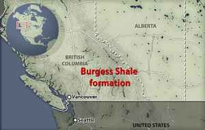 situación de Burgess Shale, Canadá