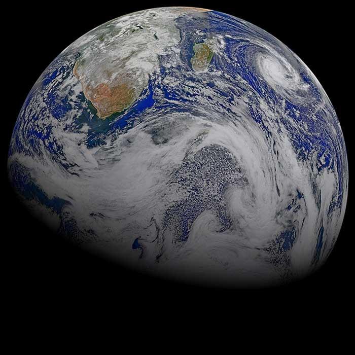 Canica Azul, la Tierra desde el satélite Suomi-NPP